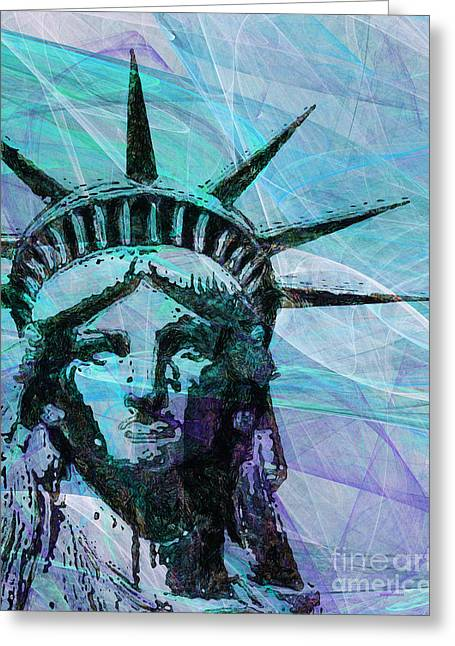 Lady Liberty Head 20150928p150 Greeting Card by Wingsdomain Art and Photography
