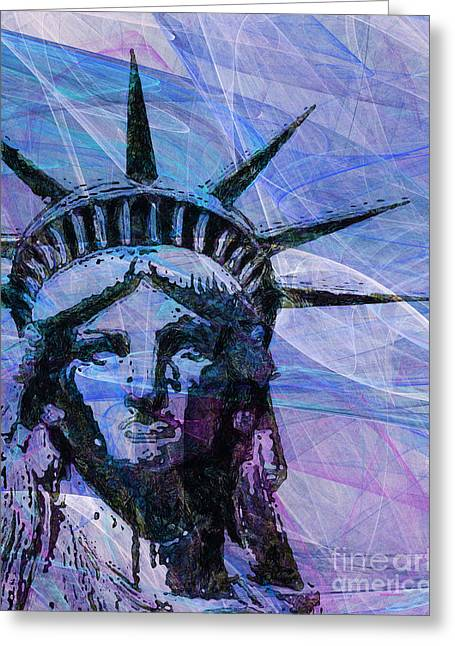 Lady Liberty Head 20150928p180 Greeting Card by Wingsdomain Art and Photography