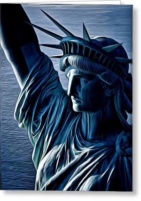 Lady Liberty Greeting Card by Kevin  Sherf