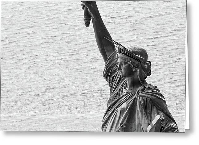 Greeting Card featuring the photograph Lady Liberty by Rand