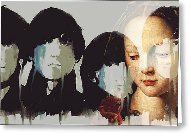 Lady Madonna Children At My Feet  Greeting Card by Paul Lovering