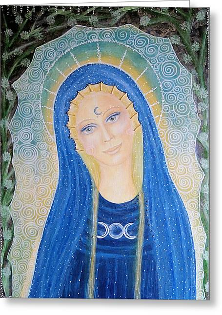 Lady Of Avalon Greeting Card