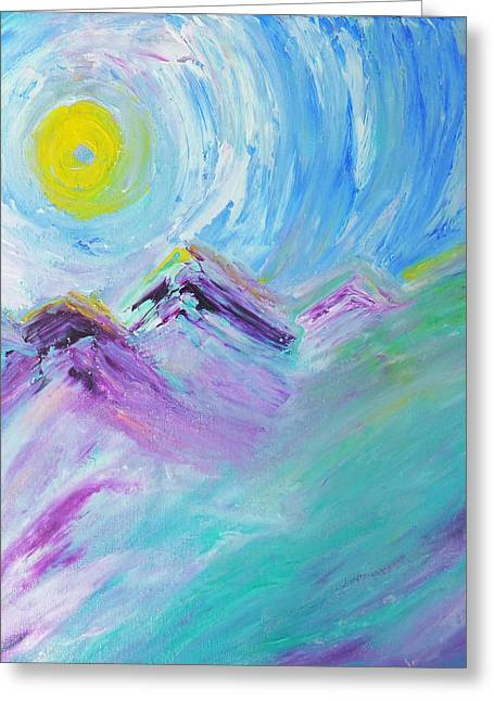 Lady Of Mountains  Greeting Card by Amy Drago