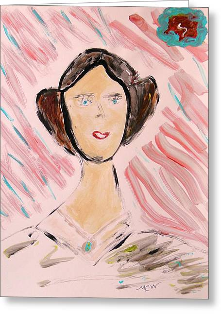Greeting Card featuring the painting Lady Of The Ages by Mary Carol Williams