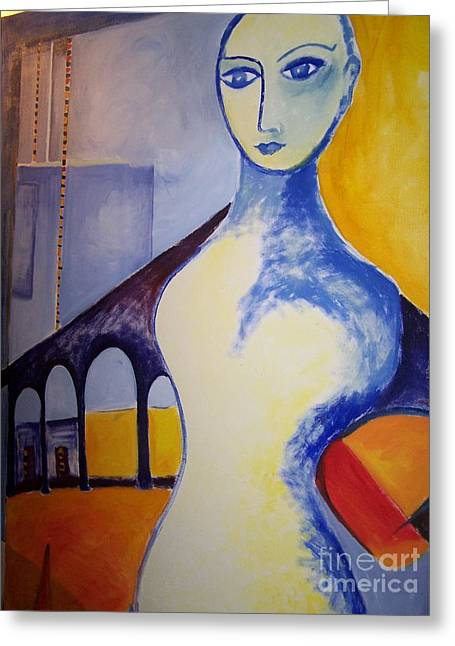 Lady Of The Arches Greeting Card by Geraldine Liquidano