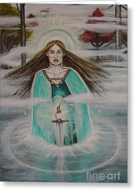 Lady Of The Lake II Greeting Card by Tammy Mae Moon