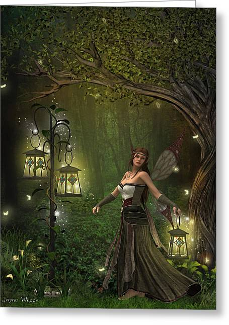 Lady Of The Lanterns Greeting Card