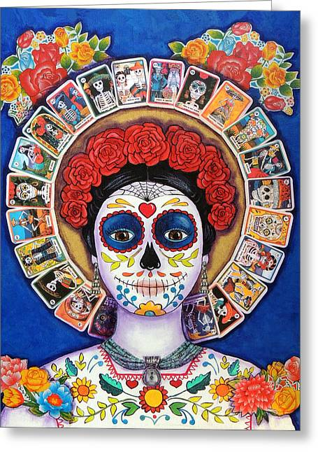 Lady Of The Loteria Greeting Card