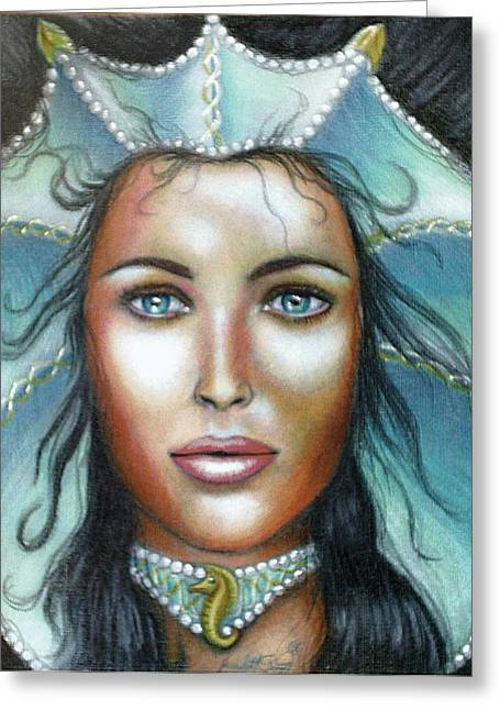 Lady Of The Sea Greeting Card by Scarlett Royal