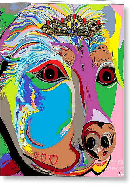 Lady Rottweiler Greeting Card by Eloise Schneider