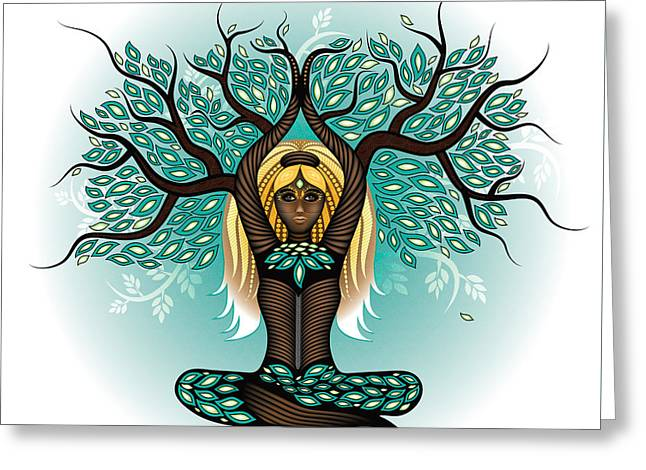 Lady Shaman Tree Greeting Card