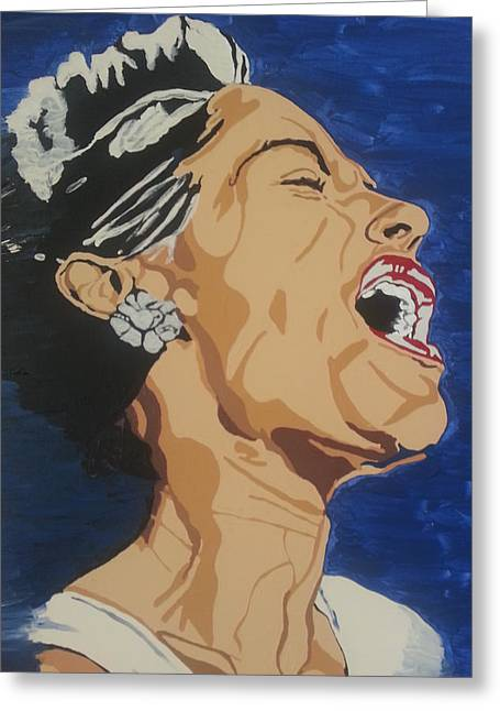 Lady Sings The Blues Greeting Card