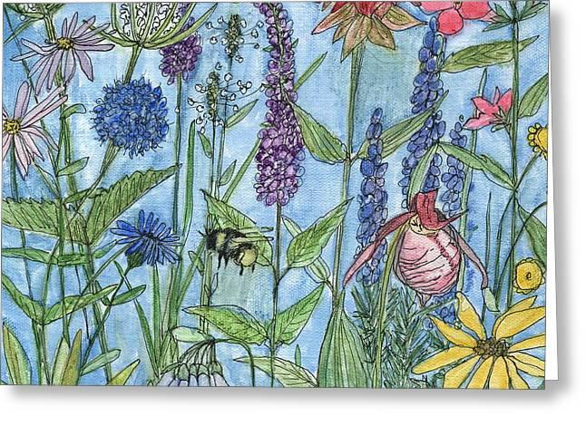 Lady Slipper In My Garden  Greeting Card