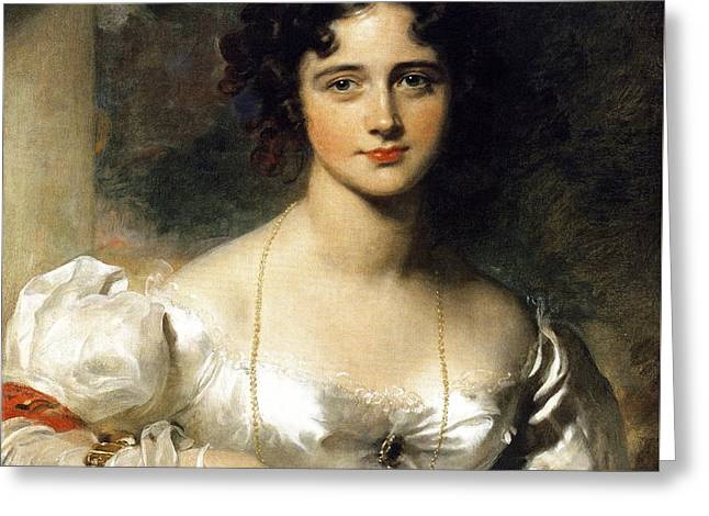 Lady Greeting Card by Thomas Lawrence