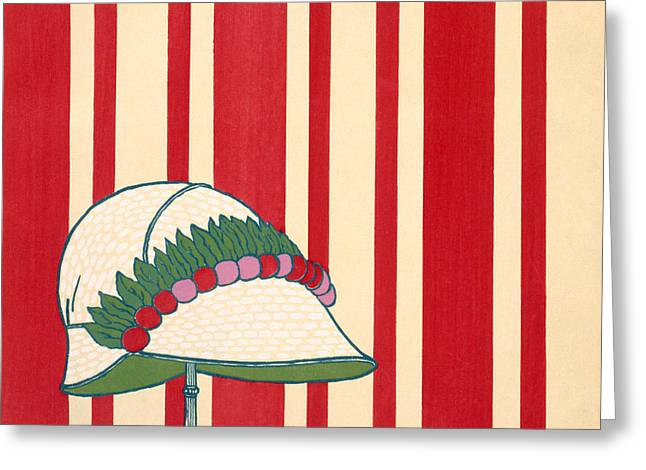 Lady's Hat Greeting Card by French School
