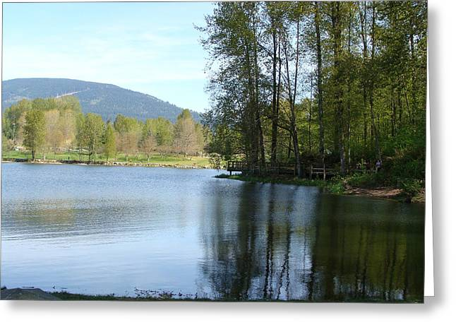 Lafarge Lake Serenity Greeting Card by Rod Jellison