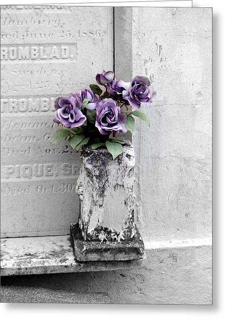 Lafayette No One Purple Roses Greeting Card