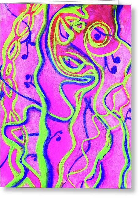 Laffy Taffy Greeting Card by Megan Howard