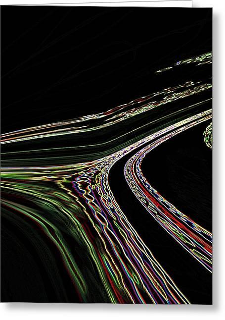 Greeting Card featuring the digital art L.a.freeways by Irma BACKELANT GALLERIES