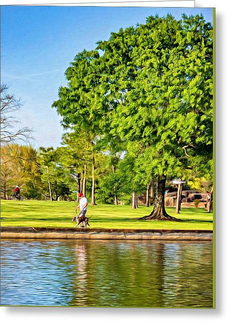 Lafreniere Park 2 - Paint Greeting Card by Steve Harrington