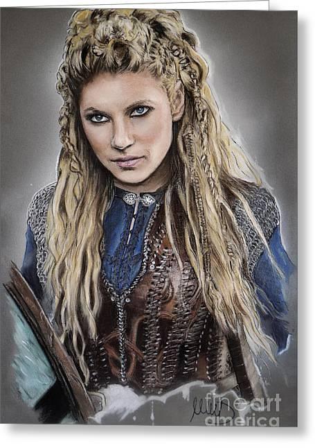 Lagertha Greeting Card by Melanie D