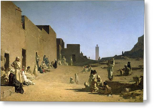 Laghouat In The Algerian Sahara Greeting Card by Gustave Caillebotte