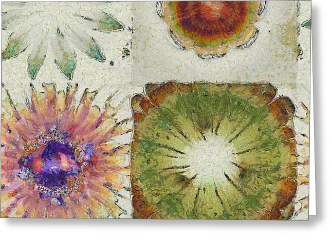 Lagniappe Chimera Flowers  Id 16165-014439-96870 Greeting Card by S Lurk