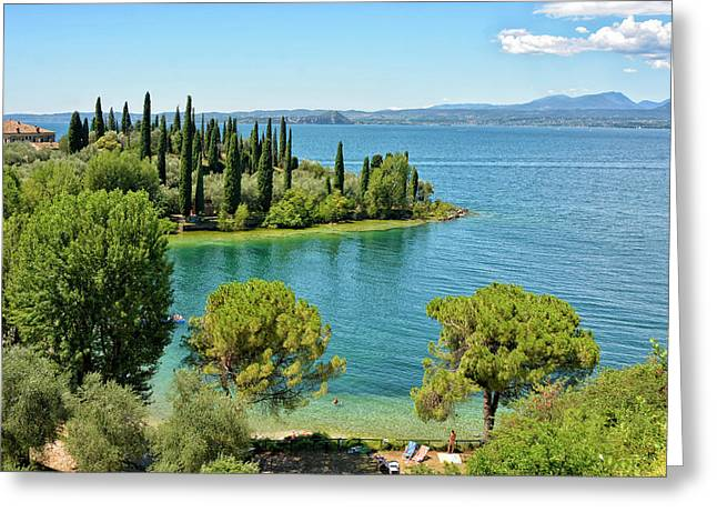 Lago Di Garda Greeting Card by Joachim G Pinkawa