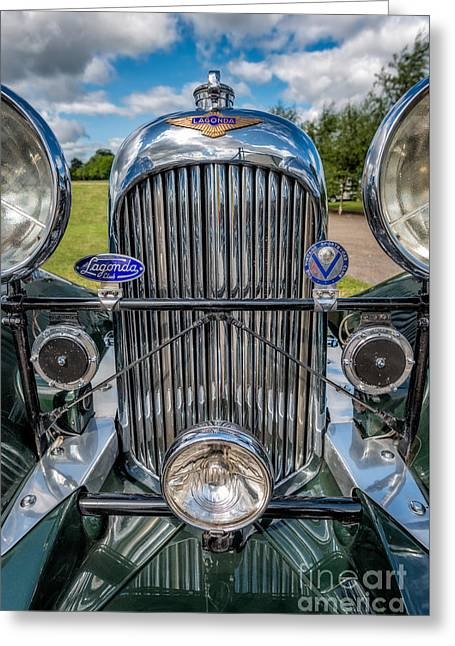 Lagonda Classic Greeting Card by Adrian Evans