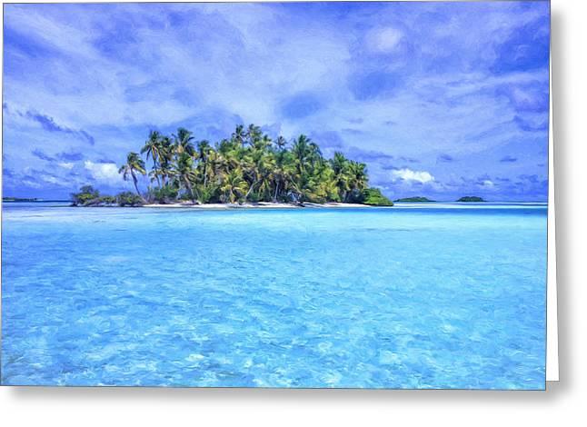 Lagoon Islands At Rangiroa Greeting Card
