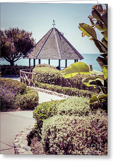 Laguna Beach California Gazebo Retro Photo Greeting Card