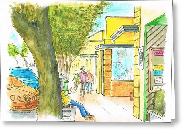 Laguna-beach-california-street Greeting Card by Carlos G Groppa