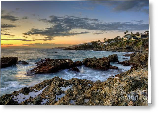 Laguna Beach Coastline Greeting Card by Eddie Yerkish