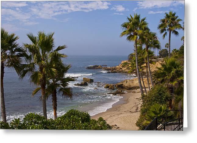 Laguna Beach Coastline Greeting Card by Lou Ford