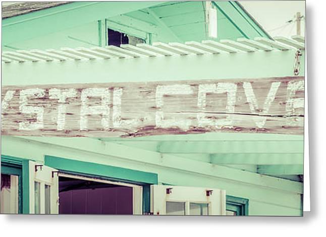 Laguna Beach Crystal Cove Sign Panorama Picture Greeting Card