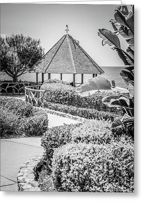 Laguna Beach Gazebo Black And White Photo Greeting Card