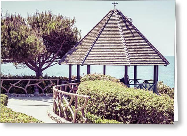 Laguna Beach Gazebo Panorama Picture Greeting Card by Paul Velgos
