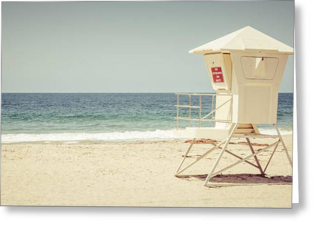 Laguna Beach Lifeguard Tower Panorama Picture Greeting Card