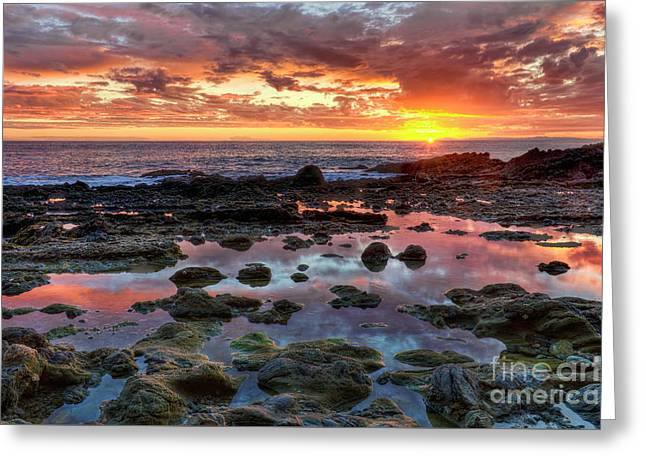 Greeting Card featuring the photograph Laguna Beach Tidepools At Sunset by Eddie Yerkish