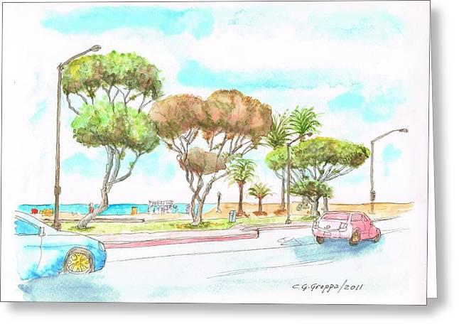 Laguna Beach Waterfront - California Greeting Card by Carlos G Groppa