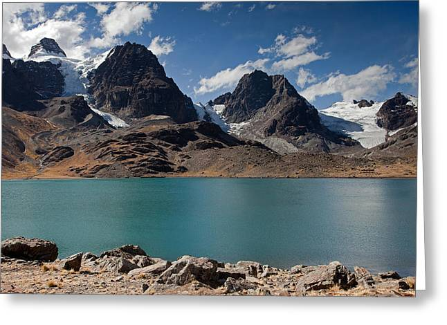 Laguna Chiar Khota In Condoriri Mountains Greeting Card