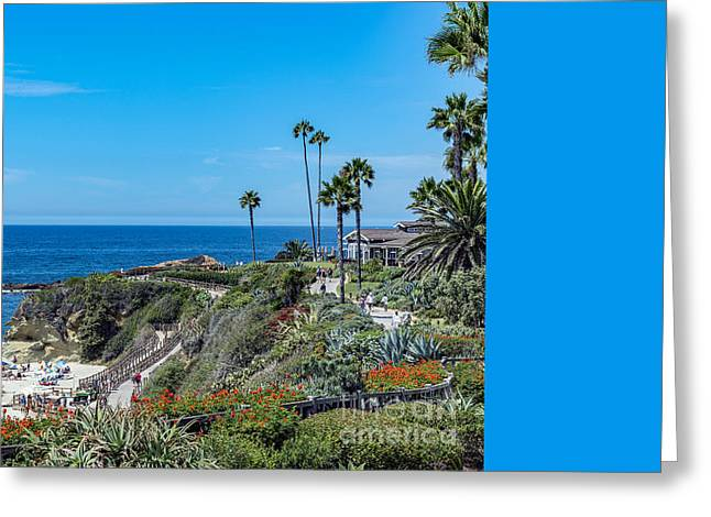Laguna Goff Cove Beach Panorama Greeting Card