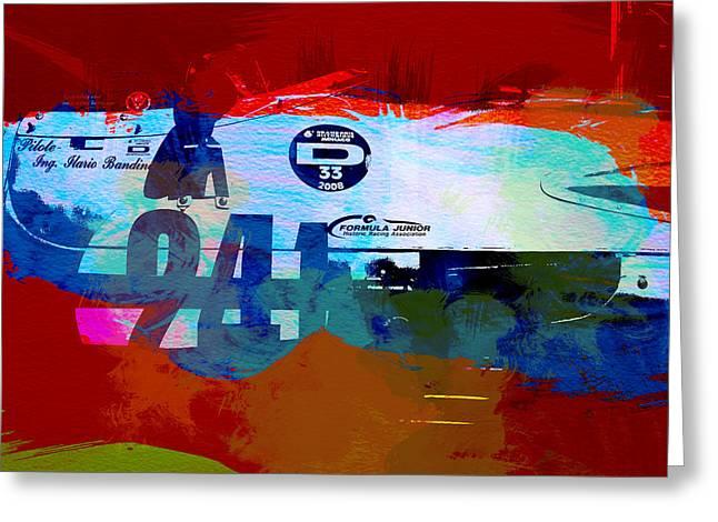 Laguna Seca Racing Cars 1 Greeting Card by Naxart Studio