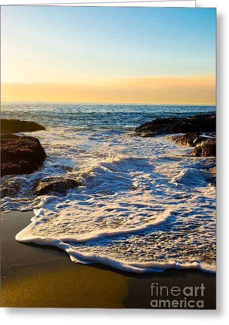 Canvas Photograph Greeting Cards - Laguna Sunset Greeting Card by Kelly Wade