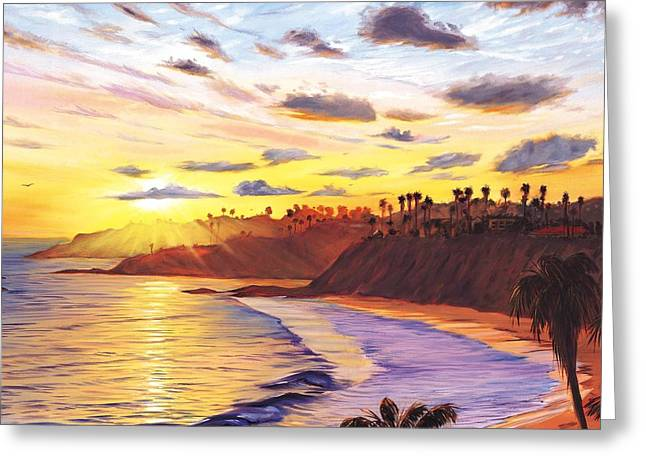 Laguna Village Sunset Greeting Card by Steve Simon
