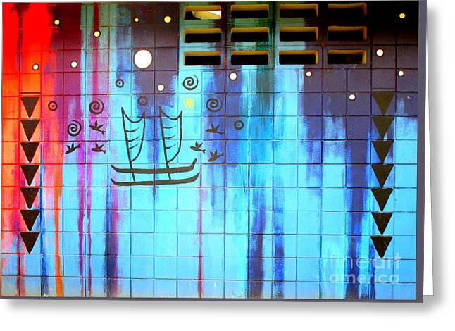 Lahaina Mural 1 Greeting Card