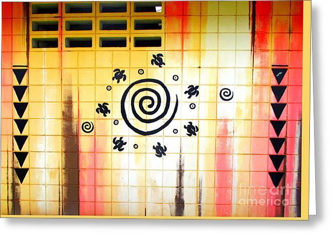 Lahaina Mural 2 Greeting Card