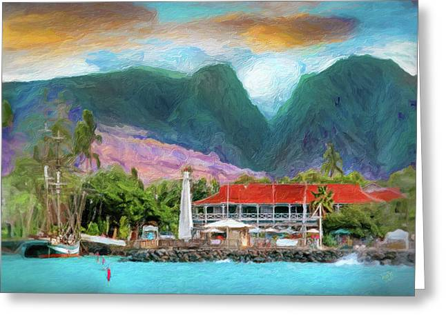 Lahaina Greeting Card by Patrick J Gallagher