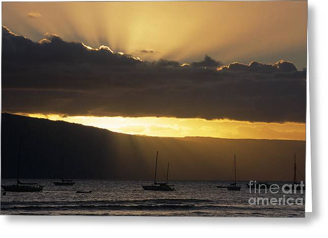 Lahaina Sunset - Maui Greeting Card