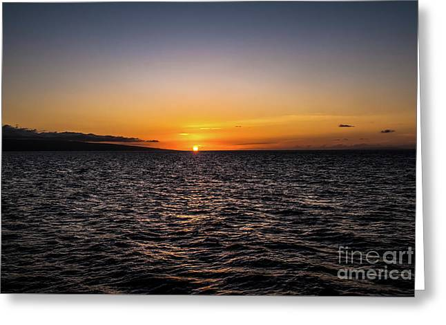 Lahaina Sunset Greeting Card